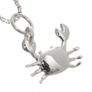 NEW Sterling Silver Jewellery: Quirky Lopsided Crab Pendant