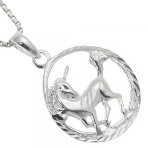 Magical Sterling Silver Jewellery: Lovely Framed Unicorn Pendant