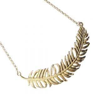 gold 55302N-SS feather Scratched silver finish  Silver indented circle necklace