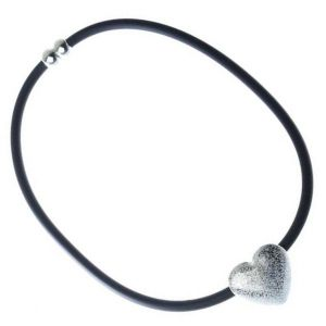Magnetic Cord Necklace with Love heart Detail