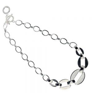 Shiny Silver Chain Link Necklace
