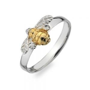 Sterling Silver and Gold Bumblebee Ring