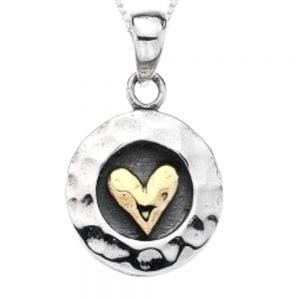 Pure Origins: Sterling Silver and Brass Heart Pendant