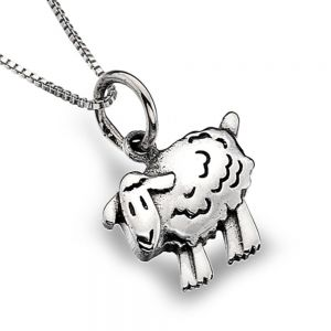Sterling Silver Jewellery: Adorable Sheep Pendant (N260)