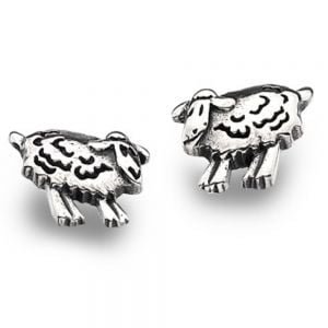 Sterling Silver Sheep Studs