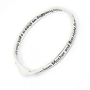 bangle-Weve-been-Mother-and-son-right-from-the-start quote bangle