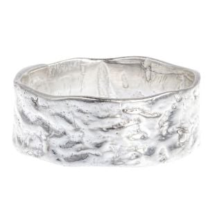Textured Sterling Silver Band