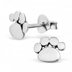 Sterling Silver Jewellery: Paw Print Studs