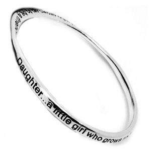 Daughter a little girl who grows up to be a friend affirmation bangle