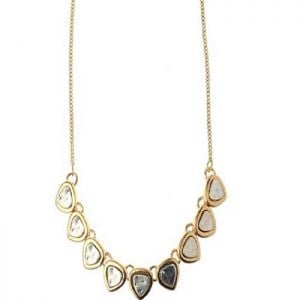SALE Fashion Jewellery: Silver and Gold Small Heart Necklace (S66) (S066)