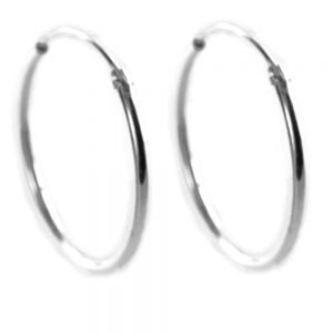Sterling Silver Sleeper Hoop Earrings (20mm)