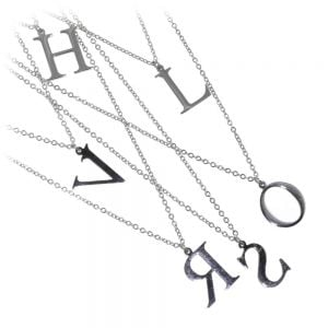 imple and Classic Stainless Steel Design: Initial Pendant 'A' (U51)