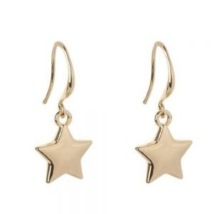Celestial Fashion Jewellery: Silver Tone Star Earrings (2.5cm Drops) (DX11)A)