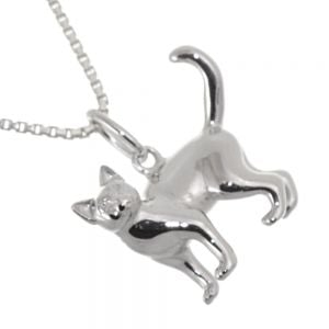 Lovely Sterling Silver Jewellery: Curious Cat Pendant