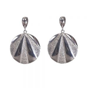 Textured Statement Sterling Silver Earrings