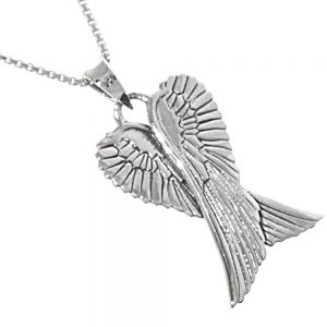 Sterling Silver Crossed Wings Pendant jewellers york