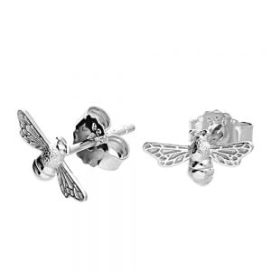 Beautiful Sterling Silver Jewellery: Small and Cute Bumblebee Stud Earrings