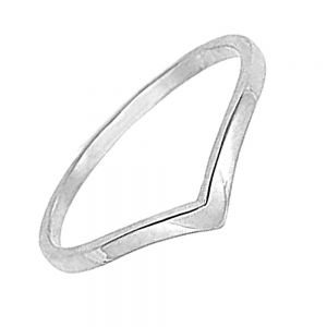 Sterling Silver Jewellery: Simple Wishbone Design Stacking Ring