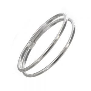 Sterling Silver Jewellery: Simple Double Thin Band Design Ring