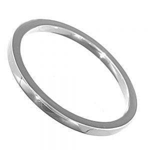 Contemporary Sterling Silver Jewellery: Simple Chunky Bangle