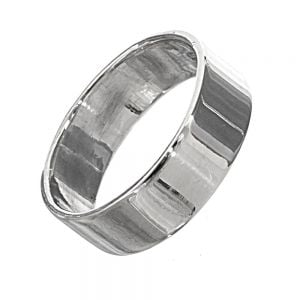 Sterling Silver Jewellery: Simple Thick Band Ring with Shiny Finish