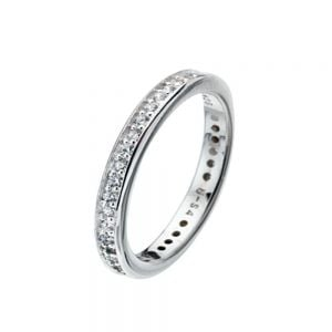 Sterling Silver Crystal Embellished Stacking Ring