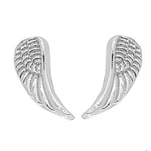 Tiny Sterling Silver Angel Wing Studs rue b jewellers york