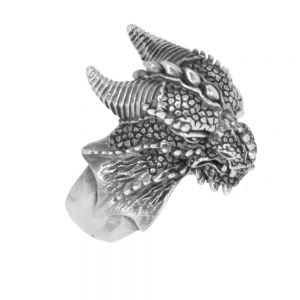 Sterling Silver Jewellery: Beautiful and Incredibly Detailed Celtic Inspired Dragon Ring