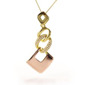 Sale: sterling silver gold plated pendant