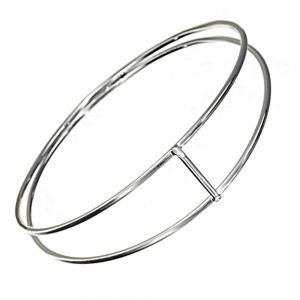 Minimalist Sterling Silver Jewellery: Contemporary Geometric Bangle
