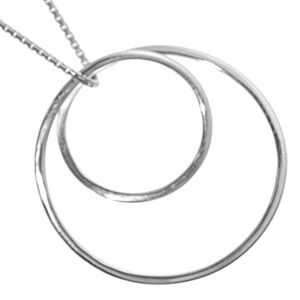 NEW Geometric Sterling Silver Jewellery: Stunning Looping Circle Design Pendant (30mm Diameter)