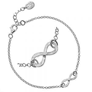 Simple Sterling Silver Jewellery: Hammered Finish Infinity Bracelet