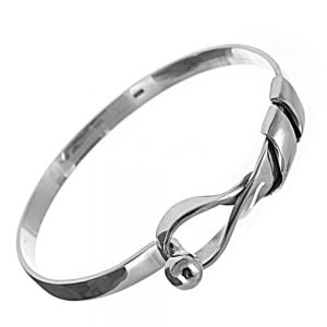 Sterling Silver Jewellery: Chunky Looping Bangle