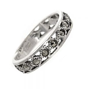 Sterling Silver Jewellery: Delicate Marcasite Midi (Knuckle) Ring