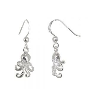 NEW Sterling Silver Jewellery: Quirky Octopus Dangly Earrings