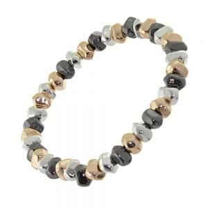 Gracee Fashion Bracelet: Multi-Tone Adjustable Toggle (Drawstring) Bracelet with Stars (GR45)
