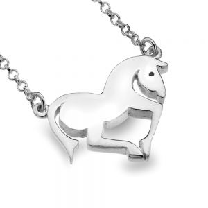 Sterling Silver Jewellery: Running Horse Necklace