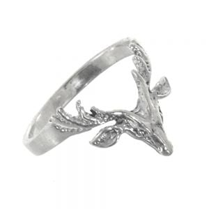 Sterling Silver Jewellery: Cute and Quirky Stag Design Ring with Oxidised Finish