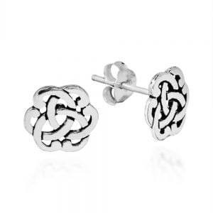 Sterling Silver Celtic Knot Earrings Box