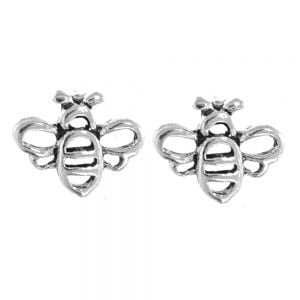 Sterling Silver Jewellery: Tiny Bumblebee Stud Earrings