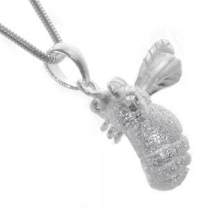 Sterling Silver Jewellery: EXTRA LARGE Textured Chubby Bumblebee Pendant