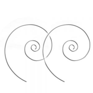 Statement Sterling Silver Jewellery: Push Through Style Spiral Earrings