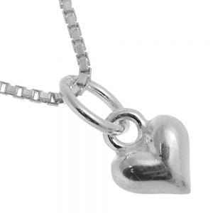 Beautiful Sterling Silver Jewellery: Tiny 6.5mm Heart Pendant (N158)