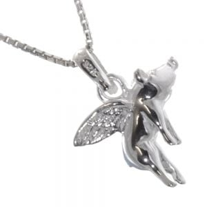 Quirky Sterling Silver Jewellery: Unusual Flying Pig Pendant