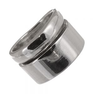 SALE Sterling Silver Jewellery: 14mm Tall Chunky Curving Ring (SL239)