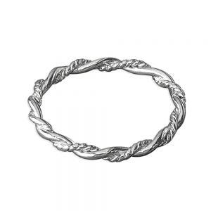 Sterling Silver Jewellery: Nautical Inspired Thin Twisted Rope Ring