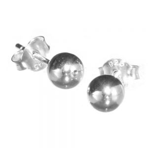 Classic Sterling Silver Jewellery: Small Silver Ball Stud Earrings (6mm Diameter