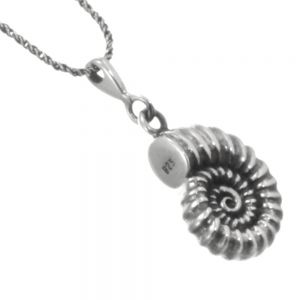 Gorgeous Sterling Silver Jewellery: Detailed Ammonite Pendant (15mm x 27mm) (N211)
