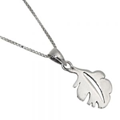 Lovely Sterling Silver Jewellery: Small Simple Oak Leaf Pendant