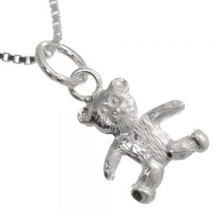 Sterling Silver Jewellery for Children! Cute Teddy Bear Pendant (14